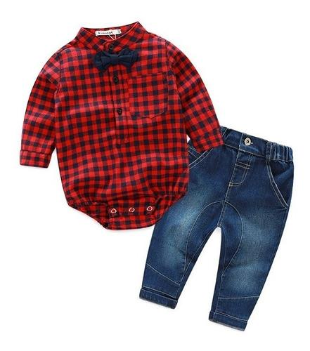 conjunto bebê masculino social  camisa +calça pronta entrega