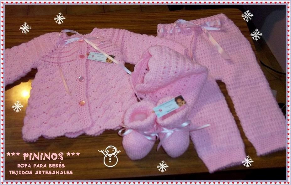 Conjunto Bebé 5 Piezas - Recién Nacido A 3 Meses - Tejido -   740 42cfa458c2d6