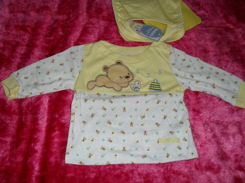 conjunto bebé recién nacido_batita pelele babero y camiseta