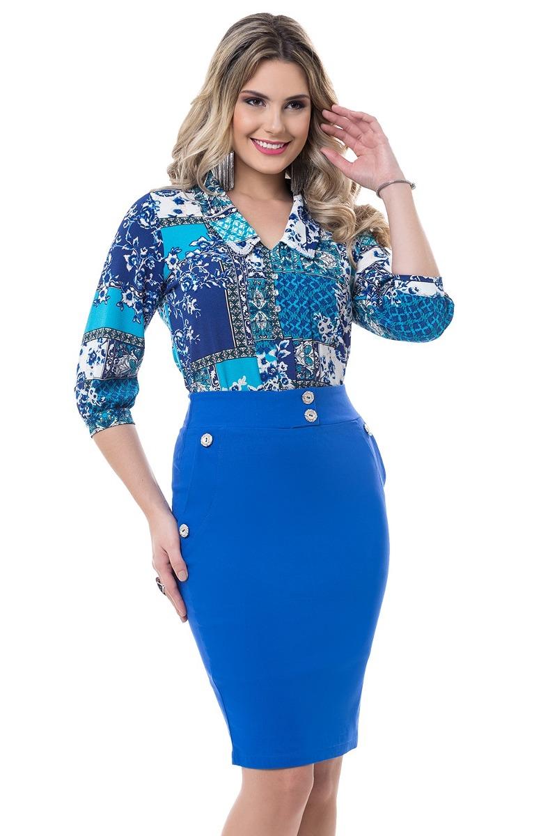 4c6bd49c1c9fa conjunto bella herança blusa estampada moda evangélica. Carregando zoom.