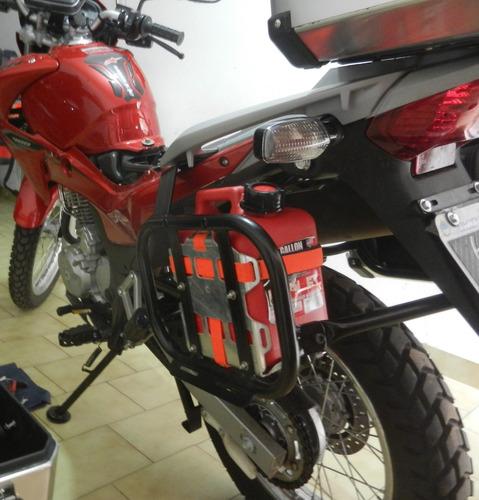 conjunto bidón y soporte en aluminio un galón motoperimetro