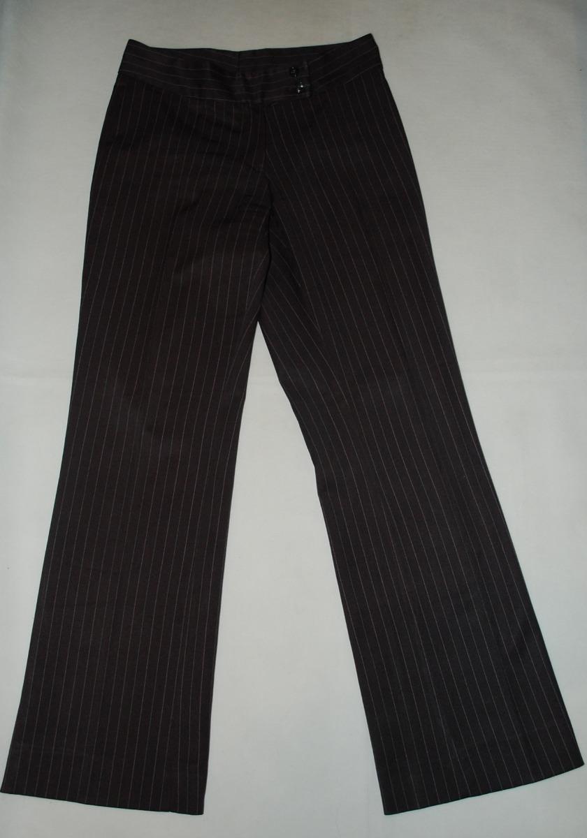 conjunto blazer-pantalon gris(con rayas) para dama. Cargando zoom. 9a50c61b2d01