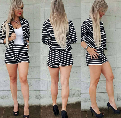 conjunto blazer short casaco roupa feminina blogueiras pmggg
