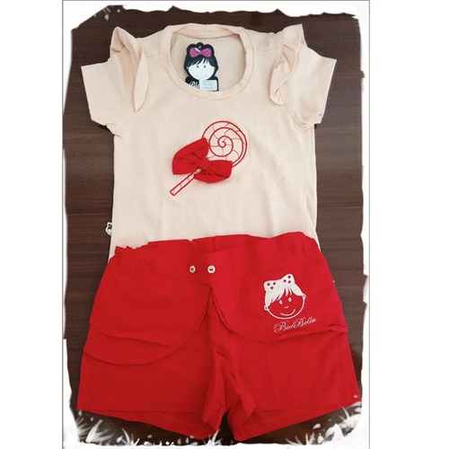 conjunto blusa e short- ref. 451 short -