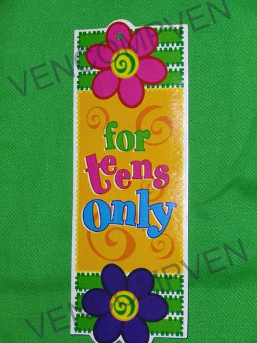 conjunto blusa pantalón for teens only hermoso vivos colores