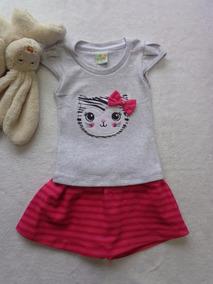 c8e192a1e1 Conjunto Saia E Blusa Estampado no Mercado Livre Brasil