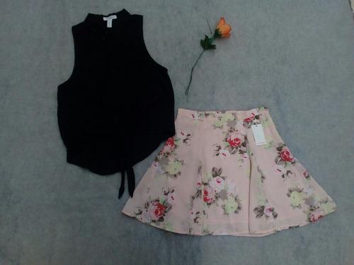 conjunto blusa y falda talla chica ropa americana
