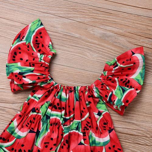 conjunto body bebê menina macacão faixa melancia c infantil