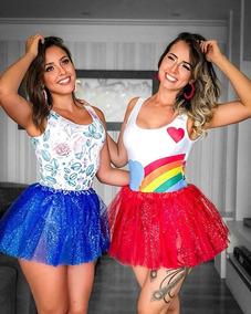 f6a6604b9 Kit Body E Saia Tule Carnaval no Mercado Livre Brasil