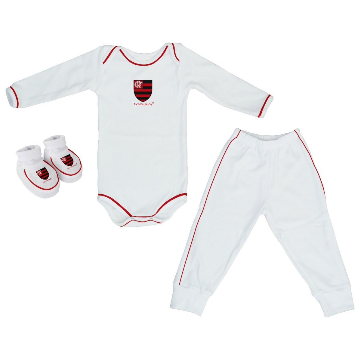 conjunto body manga longa+calça+pantufa oficial flamengo. Carregando zoom. 16d6fe59c392d