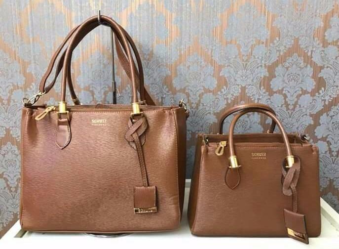 2d2f91b610 Conjunto Bolsas Lorena Schutz Grande E Média Kit Mini+grande - R ...