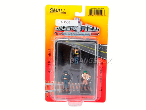 conjunto bonecos policia motor head 1:48 fas558