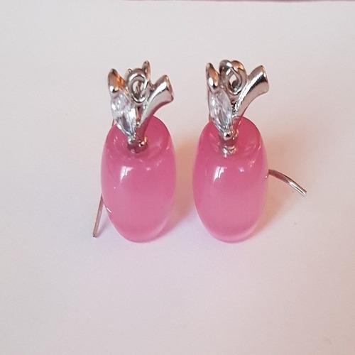 conjunto brincos e colar feminino de prata 925 formato apple
