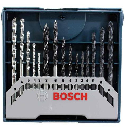 conjunto broca bosch mista 15 peças maquifer
