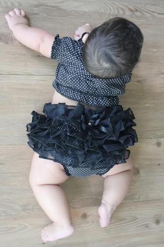 conjunto bunda rica croped ciganinha top tapa fralda menina baby bebe 2 unidades 3 meses a 2 anos