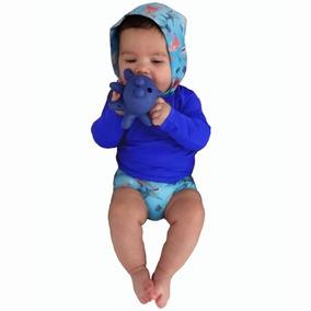 29194459b Conjunto C Capuz Bebê Com Proteção Solar Uv 50- 3 A 15 Meses
