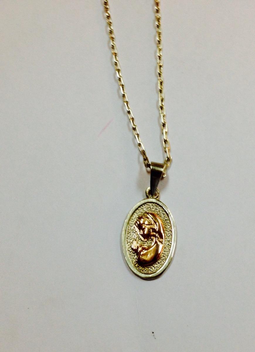 70acd1d77c0b conjunto cadena de plata fina medalla virgen niña plata oro. Cargando zoom.