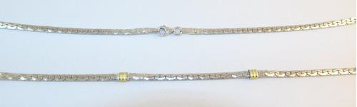 conjunto cadena plata 925 oro paris 3mm 45cm + pulsera 18cm