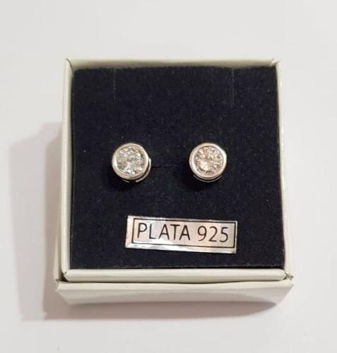 conjunto cadena plata 925 susano + aros cristal estuche etj