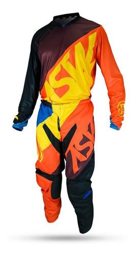 conjunto calça + camisa asw fade 2019 trilha motocross