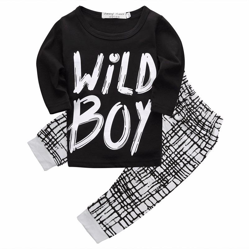 conjunto calça camiseta wild boy preta estilo rock bebê cool. Carregando  zoom. 6515f3664b2