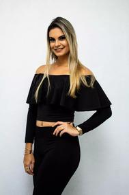 e48dbdedf Conjunto Blusa Ciganinha Saia Com Babado - Calçados, Roupas e Bolsas no  Mercado Livre Brasil
