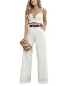 4f0ae70d7 Calca Pantalona Branca Com Forro - Calçados, Roupas e Bolsas com o Melhores  Preços no Mercado Livre Brasil