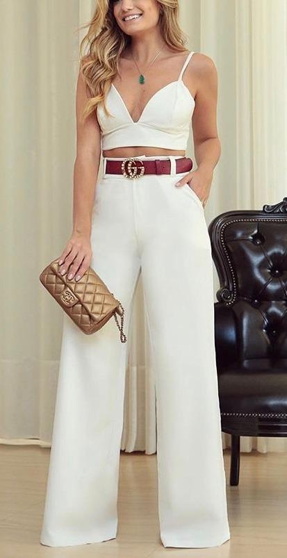 9001d0c58 conjunto calça flare pantalona e cropped curto bojo #cj25 de. Carregando  zoom.