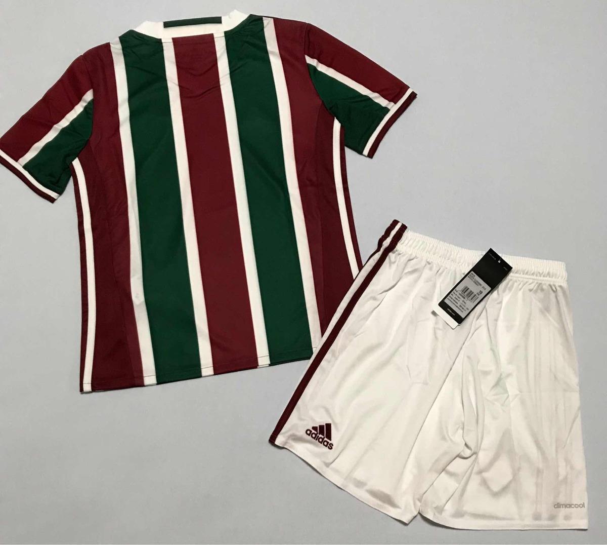a11d634ff9 Conjunto Calção + Camisa Infantil Fluminense adidas Kit - R  129