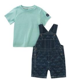 d6bbd48dd970b8 Conjunto Calvin Klein Baby - Jardineira + Camiseta