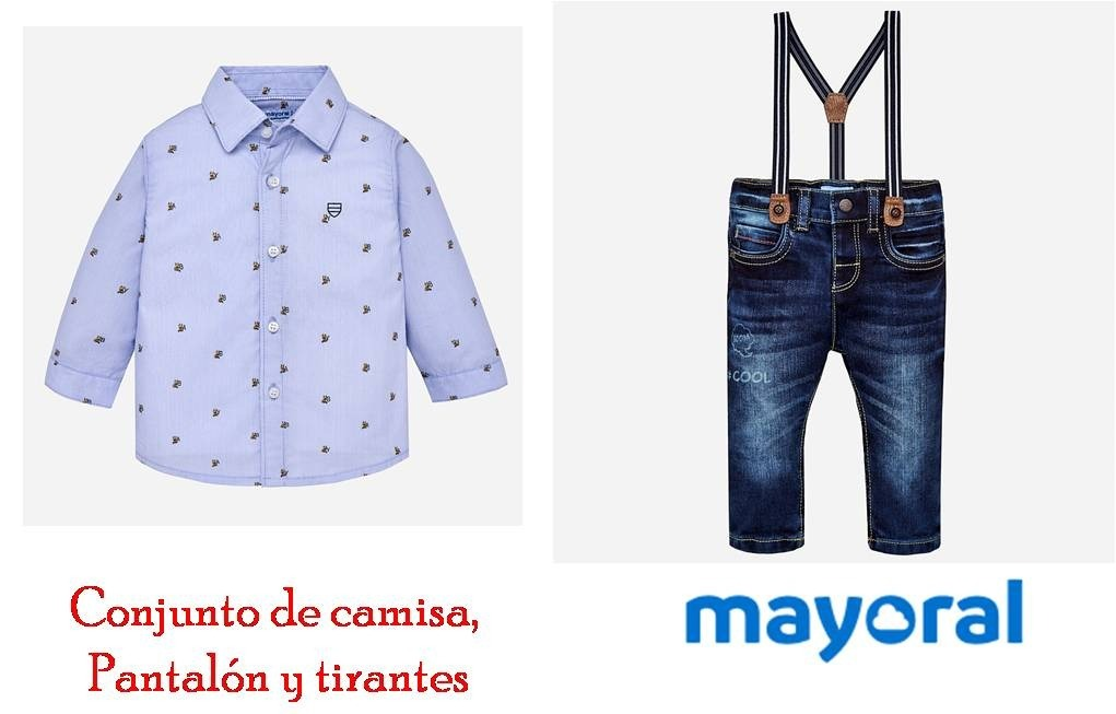6e9119681 conjunto camisa jeans tirantes mayoral bebé 2130 18 meses a. Cargando zoom.