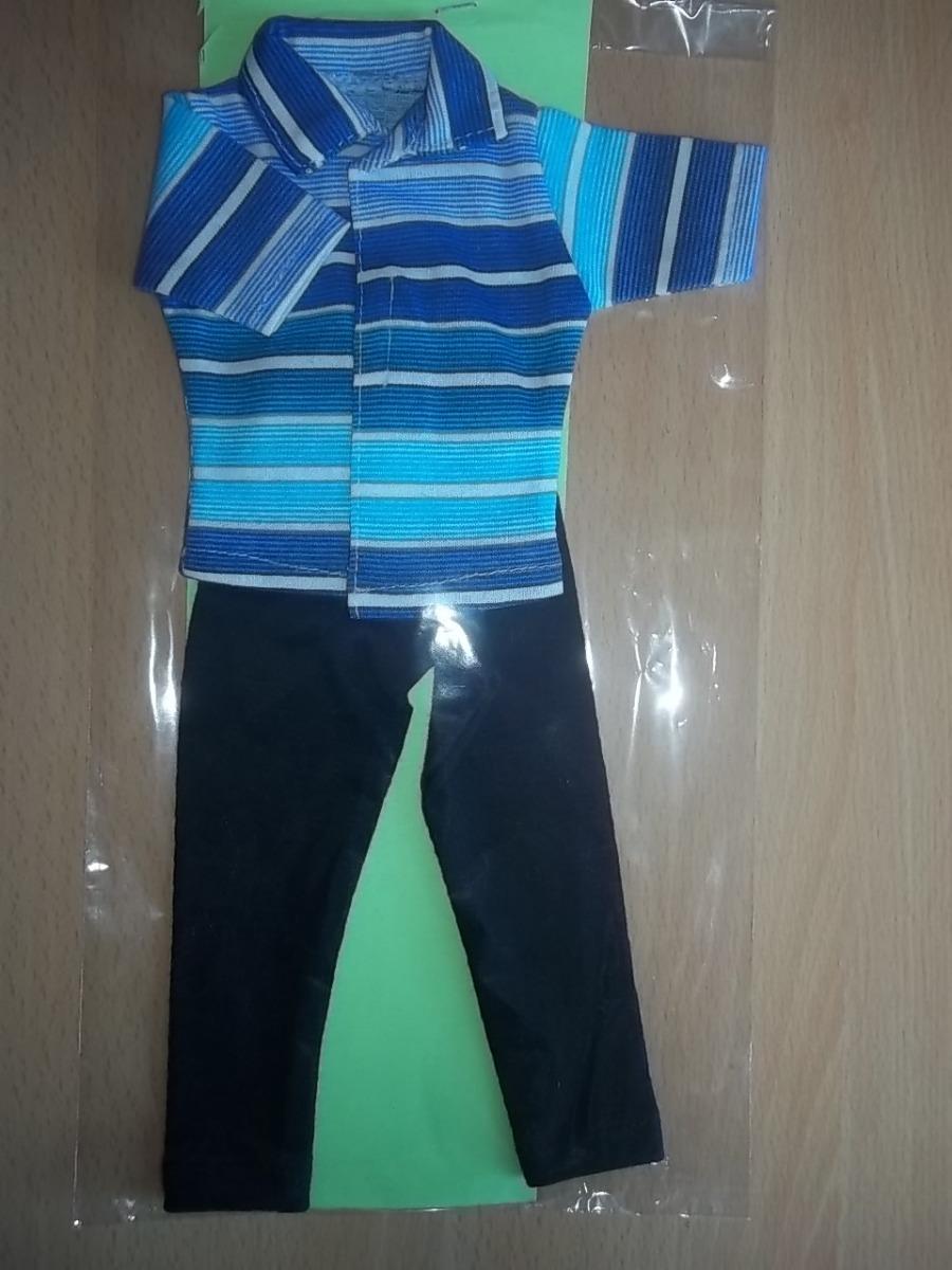 fc4fdf804 Conjunto Camisa Rayada Pantalon Para Muñeco Ken Nuevo Ropa -   90