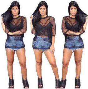 79f1d39fa Cropped Transparente - Camisetas e Blusas Cropped Feminino no ...