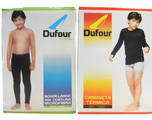conjunto camiseta pantalon termico dufour primera piel niños