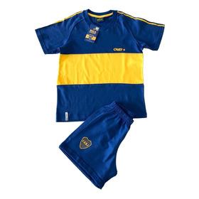 Conjunto Camiseta Retro Boca Juniors Niño Oficial 2 A 6 Años