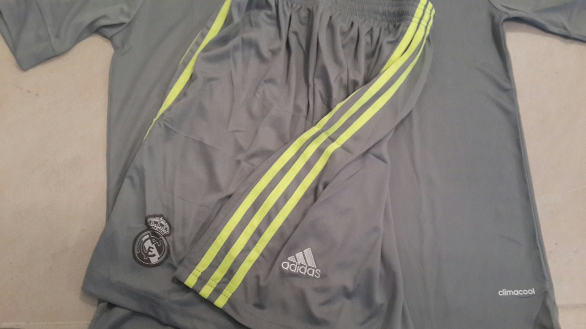 0e21fa7cef670 conjunto camiseta + short - real madrid - gris. Cargando zoom.