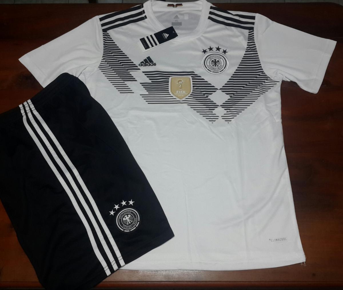 592dbcd0e3ca1 Conjunto Camiseta + Short Titular- Seleccion Alemania 2018 -   1.599 ...