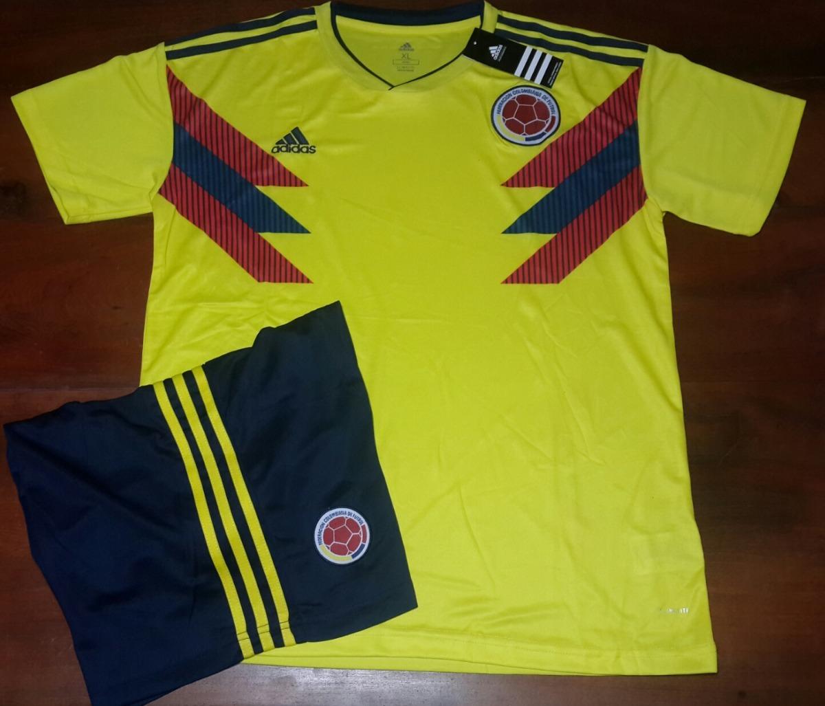 20d6dd3a92af3 Conjunto Camiseta + Short Titular- Seleccion Colombia 2018 -   1.499 ...