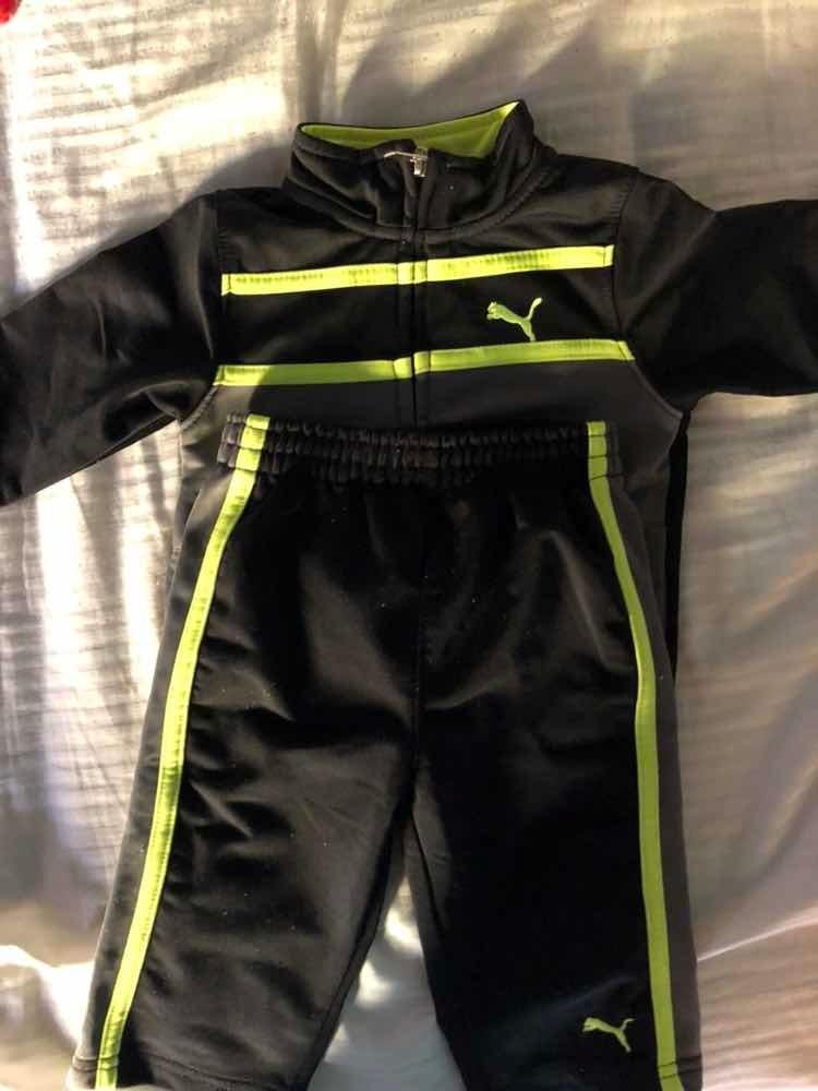 buy best size 40 delicate colors Conjunto Campera Y Jogging Puma Gris Y Negro 3-6 Meses Bebe - $ 650,00