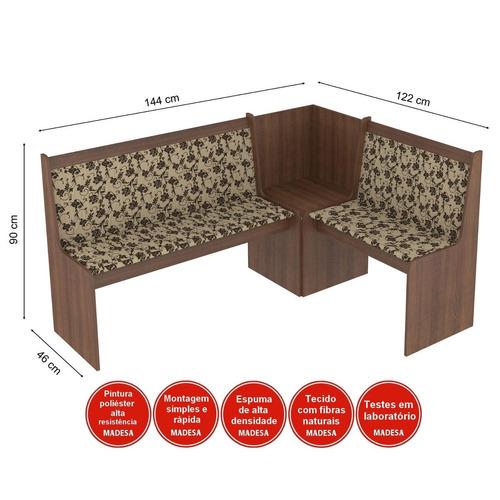 conjunto canto alemão mesa com banco 2 cadeiras dortm bc