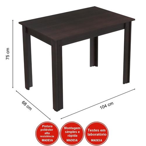 conjunto canto alemão mesa com banco 2 cadeiras dortm bd