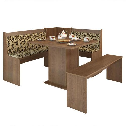 conjunto canto alemão mesa com banco herz madesa rust chwt