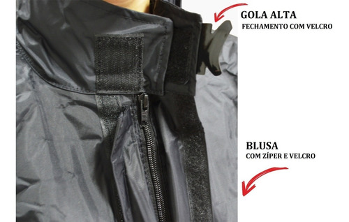 conjunto capa chuva feminina moto motoqueiro nylon g g