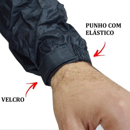 624ff8e2dc9 Conjunto Capa Chuva Masculina Forro Moto Motoqueiro Nylon M - R$ 159 ...