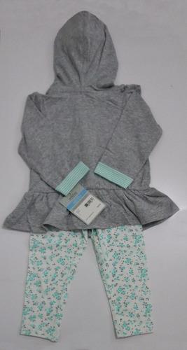 conjunto carter's-2 peças cinza e verde ou rosa  - original