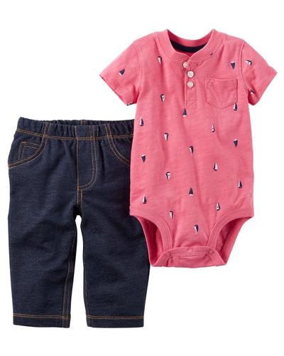 conjunto carters 2 peças menino jeans macio + bodie