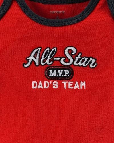 conjunto carters 3 peças all-star m.v.p dad's team