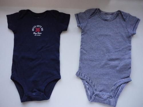 conjunto carter´s  4  bodys multicolor, talle 6 meses