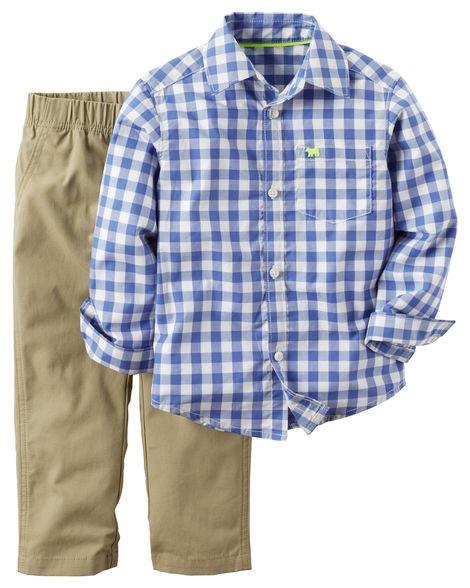 7516b53b3 Conjunto Carters Bebe 24 Meses Pantalon Camisa Vestir - Bs. 0