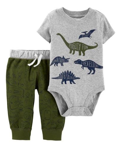 conjunto carters bebe menino 2 pçs body e calça -original